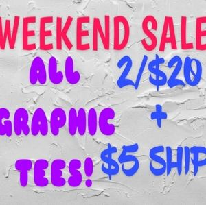 Tops - EXTENDED SALE! GRAPHIC SHIRTS 2/$20 + $5 S…